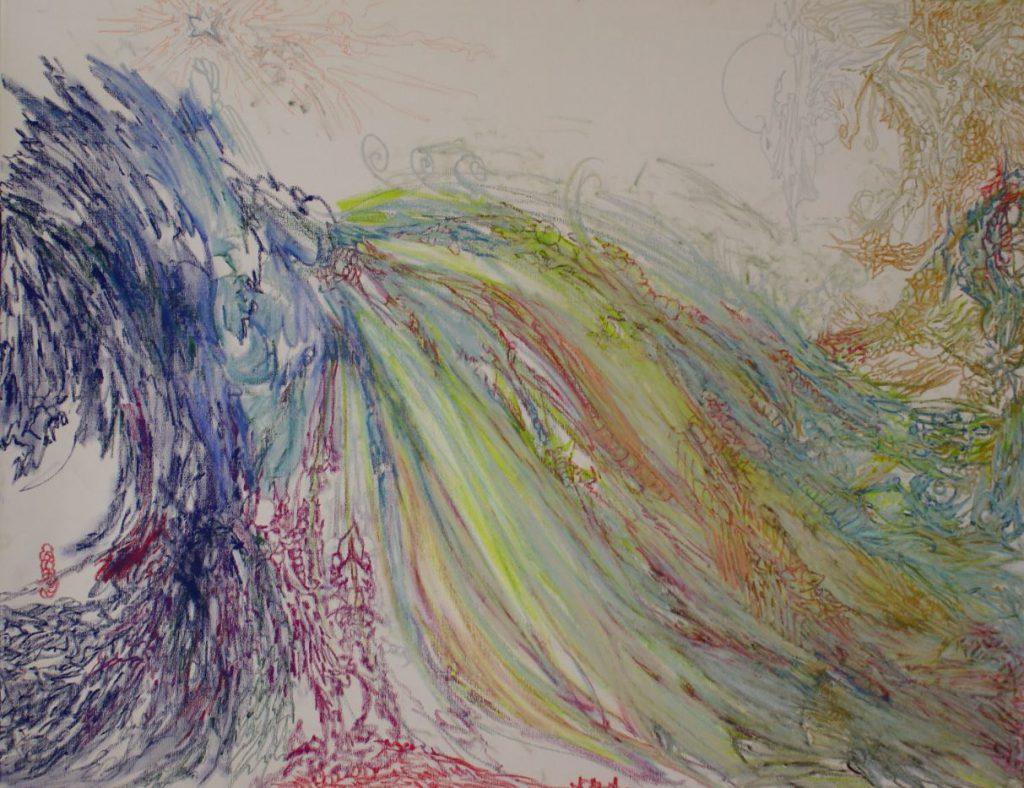 Der Griff nach dem Stern - Ölkreide (Atelier 9, * 2010)