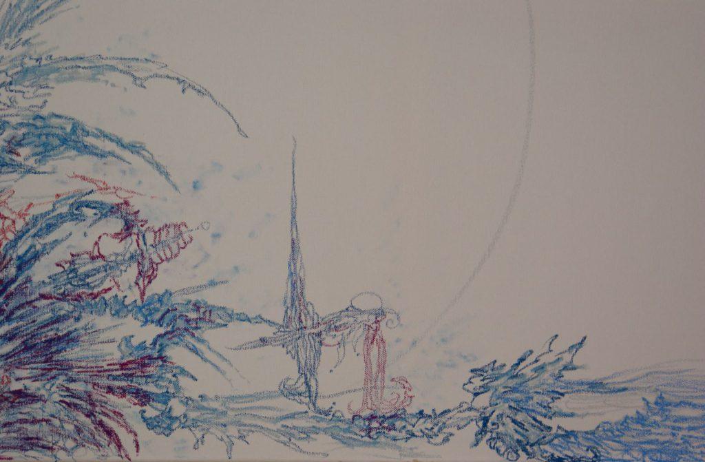 Carry on Darling - Detail: Prince, Princess and Fox - Ölkreide (Atelier 9, * 2010)