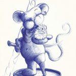 Maus Pirat mit Spatz - Kugelschreiber (MUC, 2007)