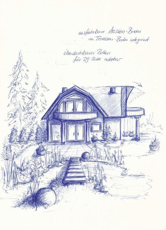 Traumhaus mit Gartenteich - Kugelschreiber (MUC, 2008)