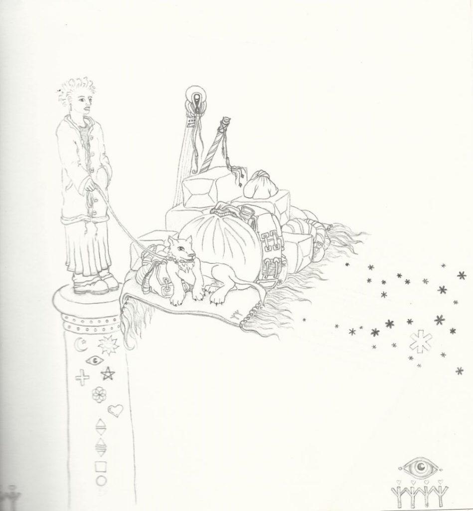 Bestellt und nicht abgeholt - Zeichnung (Atelier am See, 2016)