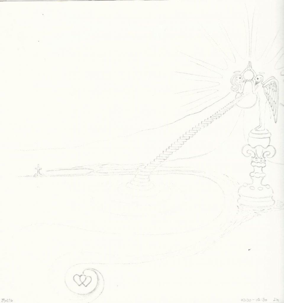 Herrschinger Hoibe - Zeichnung (Ehrwald, 03-2016)