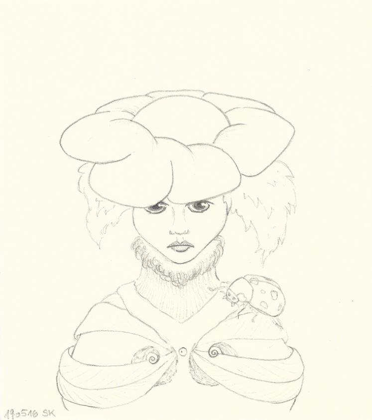 Lady Bug - Zeichnung (Atelier am See, 05-2016)