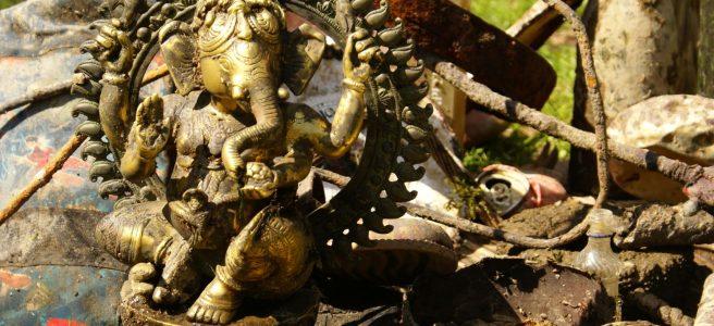 Fundstück: Ganesha Messingfigur
