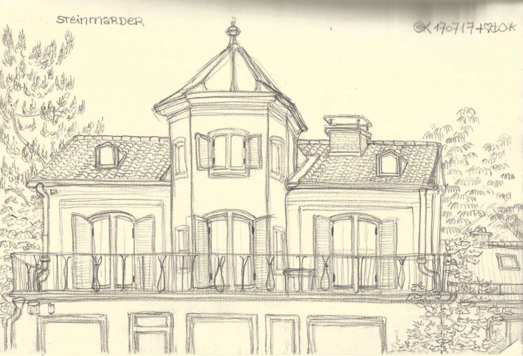 """Papier Wiese Villa"", Bergmoser Haus, Gautinger Hauptplatz 1 (2017)"