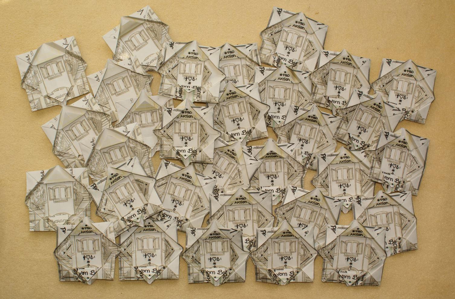 Wiese Villa Origami Sternderlblumen 2017