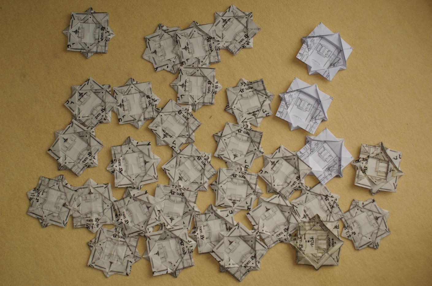 Wiese Villa Origami Sternderlblumen 2017 II