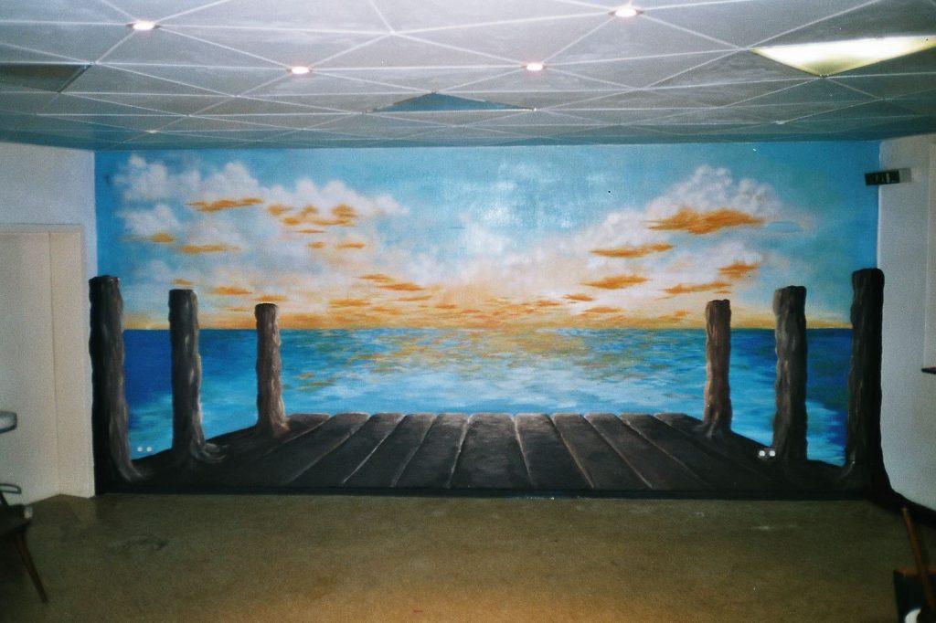2003 Illusionistische Wandmalerei (FA K) im Café - EJG