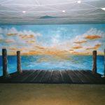 2003 Illusionistische Wandmalerei, FA K im Café - EJG